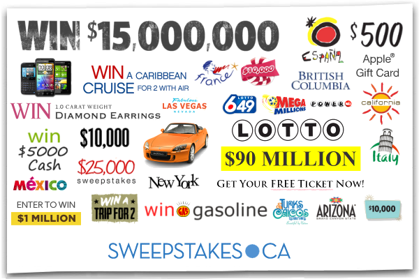 win contests and sweepstakes in canada