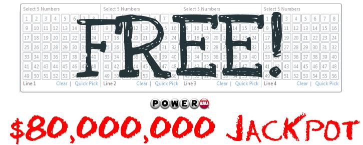 Free Powerball Ticket